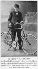 Dutch Bicycle History: mr. P.M. Snaauw + Burgers E.N.R. photo by letterlust
