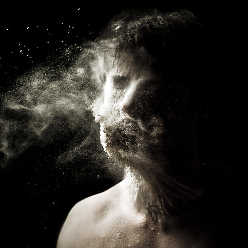 Aeolus (Self-portrait with flour) photo by Luca Pierro