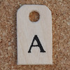 Wooden Tag A