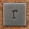 Pewter Lowercase Letter r