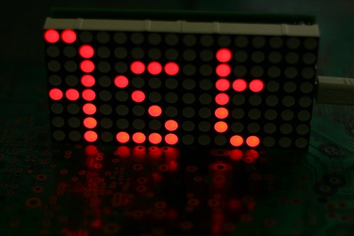 Dual LED Matrix Message Board