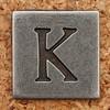 Pewter Uppercase Letter K