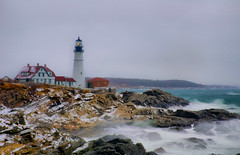 Portland Head Light in Snow photo by brentdanley