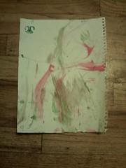 Christmas Painting by Pico, DSA - an English Cocker Spaniel