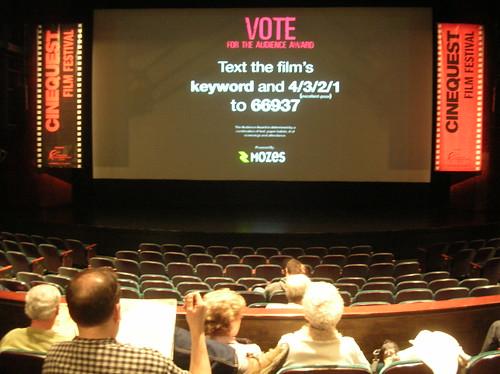Screening at San Jose Repertory Theater, Cinequest '08