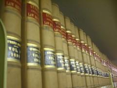 Law books on a shelf. photo by umjanedoan