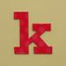 card letter k