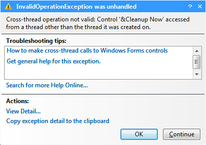 Invalid Operation Exception