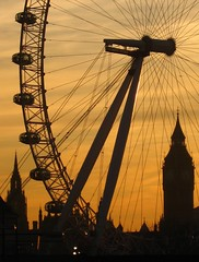 London Eye & Big Ben at sunset photo by Harshil.Shah