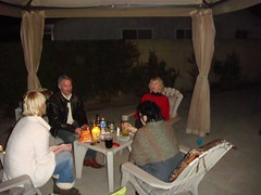 back patio with the Shockros and Donna