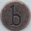 Copper Lowercase Letter b