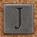 Pewter Uppercase Letter J