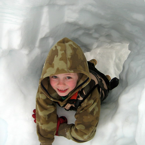 h in a snow hole
