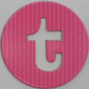 coloured card disc letter t