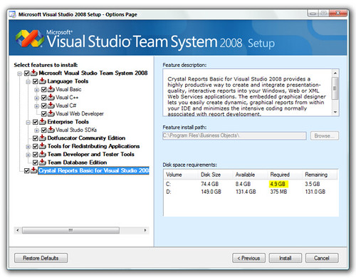 Visual Studio 2008 - Full Install