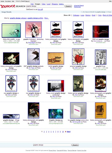 Yahoo Image Search: Graphic Design / 2007-12-18 / SML Screenshots (by See-ming Lee 李思明 SML)
