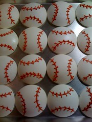 Mary's Baseball Cupcakes - www.CupcakeCaps.com photo by stillatulsagirl