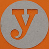 plain card disc letter y