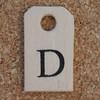 Wooden Tag D