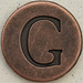 Copper Uppercase Letter G
