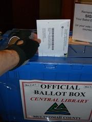 Into the ballot box