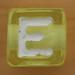 Bead Letter E