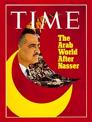 President Nasser on the cover of the time for the sixth time
