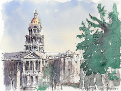capitol building from civic center park, denver, co photo by mike thomas