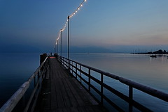Pier after sunset photo by lumofix