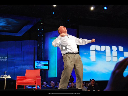 Steve Ballmer screaming Web Developers