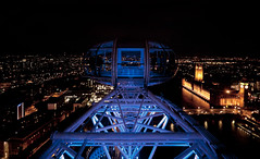 London Eye at night photo by @archphotographr