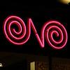 N glowing