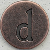 Copper Lowercase Letter d