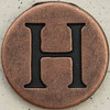 Copper Uppercase Letter H