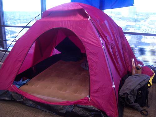 Chris Koenig's Pink Tent