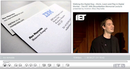 That's me on IET.tv that is