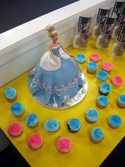 Cinderella Barbie Birthday Cake photo by Lucky Penny Cakes