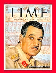 President Nasser on the cover of the time for the first time