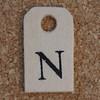 Wooden Tag N