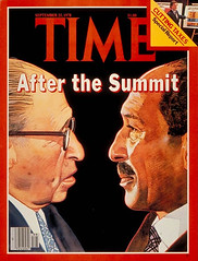 President Sadat on the cover of the time for the 9th time