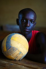 Portrait of boy and his ball photo by Samer M
