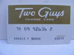 Two Guys Credit Card! photo by slade1955