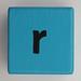 Alphabet Block r