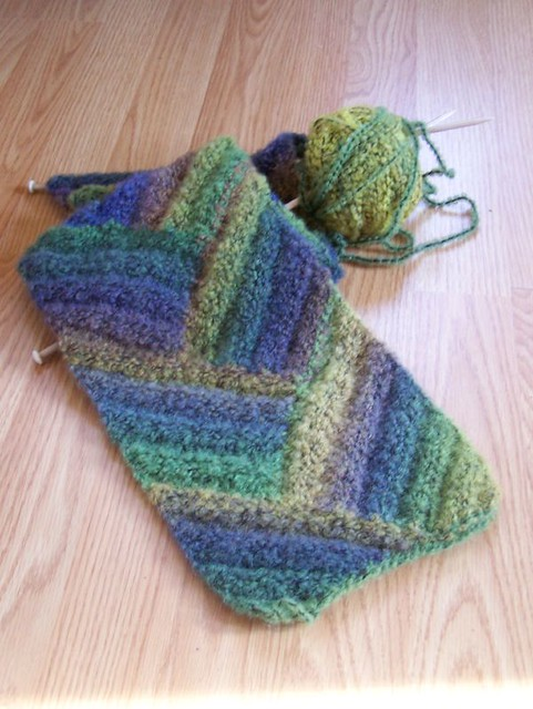 Easy Knitting Pattern For Short Row Slippers : SHORT ROW KNITTING SCARF PATTERNS FREE PATTERNS