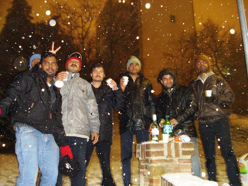 Bachelor's Party in Snow