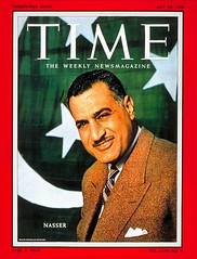 President Nasser on the cover of the time for third time