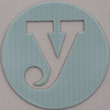 coloured card disc letter y
