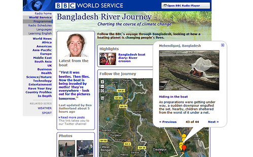 BBC World Service: Bangladesh River Journey (screenshot)