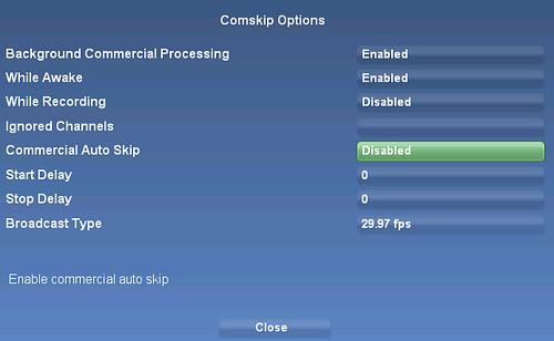 SageMC Comskip Option