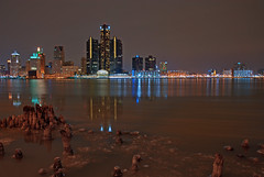 Detroit River on a December Night photo by Gregory Pleau